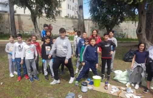Azioni di Guerrilla Art al Cesare Braico per la festa CCR 2019